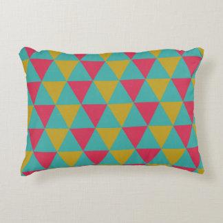 Almofada Decorativa Travesseiro Funky do triângulo da Multi-cor