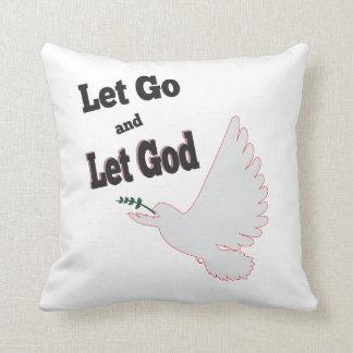 Almofada deixado vá deixe a pomba do deus