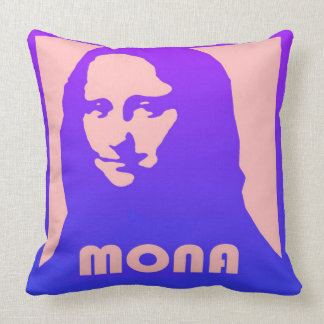 Almofada Design do pop art de Mona Lisa