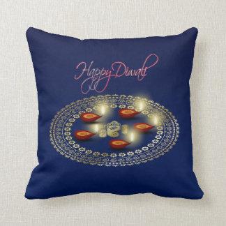 Almofada Diwali feliz Ganesha Rangoli - travesseiro