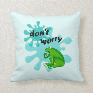 Almofada Engraçado não se preocupe seja travesseiro Hoppy