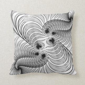 Almofada Espiral Preto e Branco