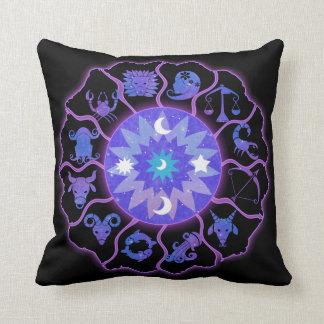 Almofada Estrelas e luas do travesseiro decorativo da roda