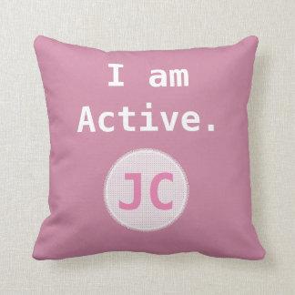 Almofada Eu sou monograma ativo da inspiração da afirmação