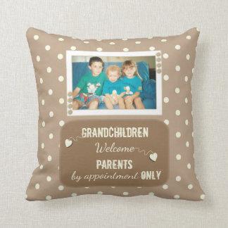 Almofada Foto personalizada das avós das bolinhas