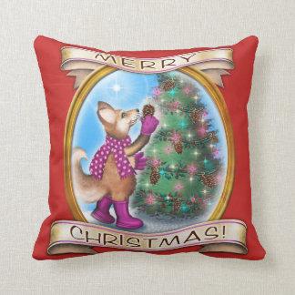 Almofada Frieda ata o travesseiro decorativo do Natal