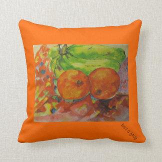 Almofada Fruta alaranjada brilhante - travesseiro