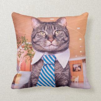Almofada Gato do escritório - gato no laço