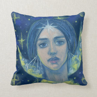 Almofada Hecate, deusa da lua, pintura pastel, arte da