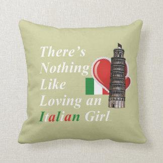 Almofada Italiano do amor do T
