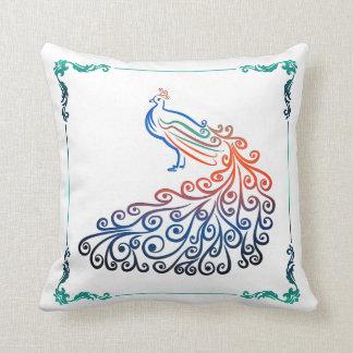 Almofada Laranja colorida elegante do verde azul da cerceta