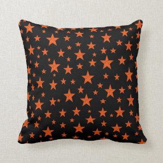 Almofada Laranja estrelado da noite estrelado