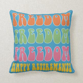 Almofada Liberdade engraçada da liberdade do presente da