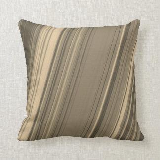 Almofada Linhas rústicas travesseiro de Brown, bege e