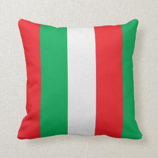 Almofada Listras verdes, vermelhas e brancas da bandeira