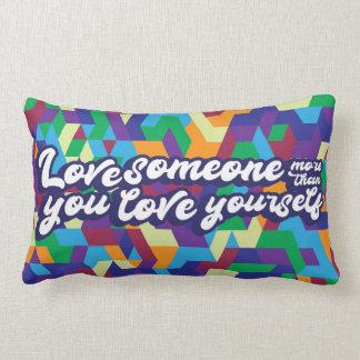 Almofada Lombar Amor alguém mais do que você amor você mesmo