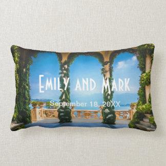 Almofada Lombar Arcos do travesseiro elegante do casamento de