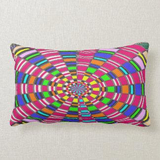 Almofada Lombar ARTE colorida circular redonda do círculo da