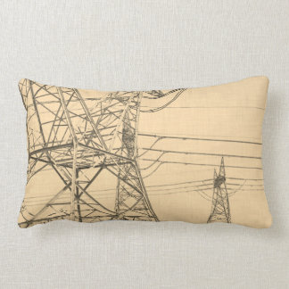 Almofada Lombar Coxim do esboço de Pólos das linhas eléctricas da