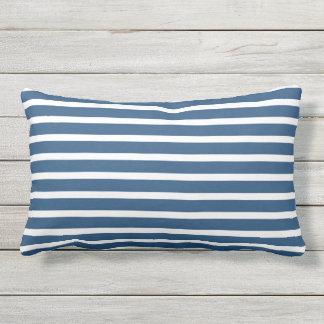 Almofada Lombar Design náutico clássico da listra branca azul