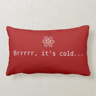 Almofada Lombar Neve Brrrrr é vermelho acolhedor do inverno frio &