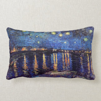 Almofada Lombar Noite estrelado sobre o Rhone por Van Gogh