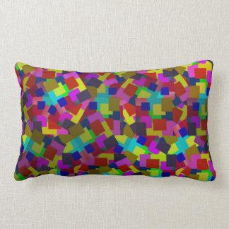 Almofada Lombar O abstrato coloriu o teste padrão de papel
