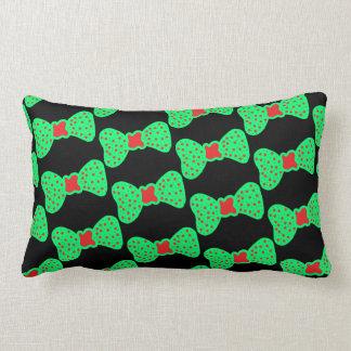 Almofada Lombar o travesseiro curva o verde com pontos vermelhos