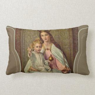 Almofada Lombar Rainha coroada do céu Jesus infantil que guardara