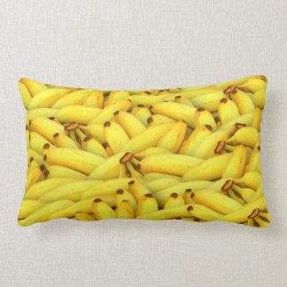 Almofada Lombar Teste padrão amarelo da fruta das bananas