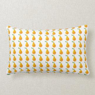 Almofada Lombar Teste padrão do original da fruta da pera