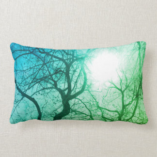 Almofada Lombar Travesseiro abstrato da decoração do verde da