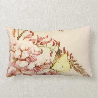Almofada Lombar Travesseiro das flores de borboleta do estilo do
