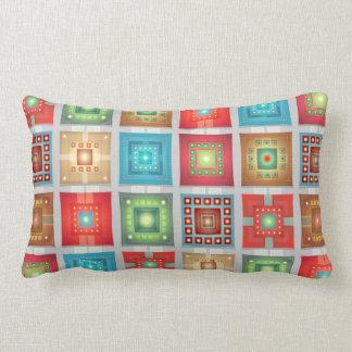 Almofada Lombar Travesseiro decorativo do trabalho do remendo do