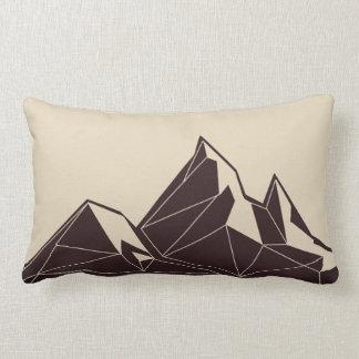 Almofada Lombar Travesseiro decorativo geométrico da montanha dos