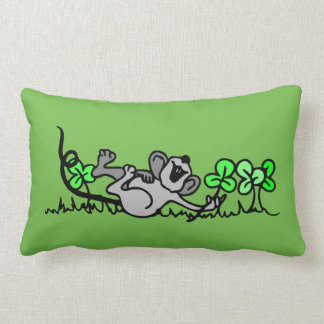 Almofada Lombar Travesseiro feliz do verde do FieldMouse