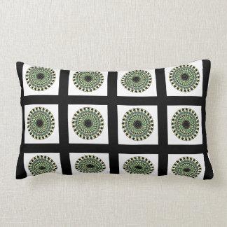 Almofada Lombar Travesseiro geométrico verde branco preto do
