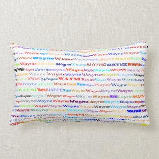 Almofada Lombar Travesseiro lombar do design de texto II de Wayne