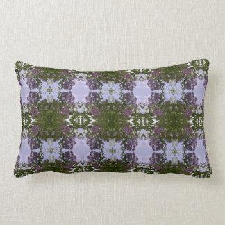 Almofada Lombar Travesseiro lombar malva do Fractal da flor & do