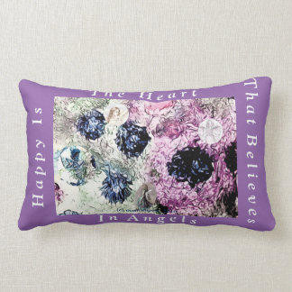 Almofada Lombar Travesseiro mágico do anjo feliz dos corações