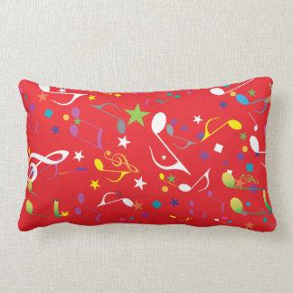 Almofada Lombar travesseiro vermelho do design das notas da música