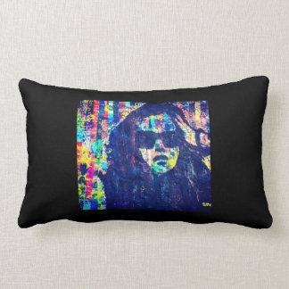 Almofada Lombar Travesseiro vibrante da silhueta abstrata