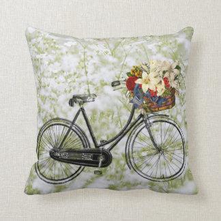 Almofada Luz - travesseiro decorativo branco verde da flor