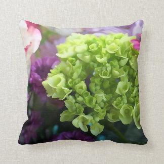 Almofada Mini travesseiro decorativo verde da flor do