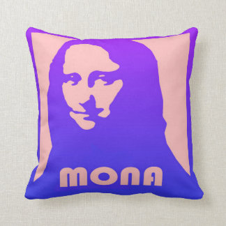 Almofada Mona Lisa no design e no estilo do pop art