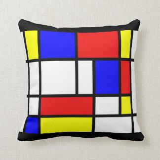 Almofada Mondrian - travesseiro das cores preliminares