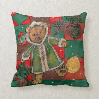 Almofada Muito travesseiro do urso do Natal-Ursinho de