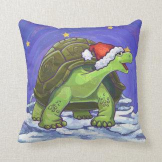 Almofada Natal da tartaruga da noite estrelado