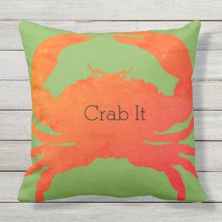 Almofada Nautical-Crab-It_Paprika & verde de mar