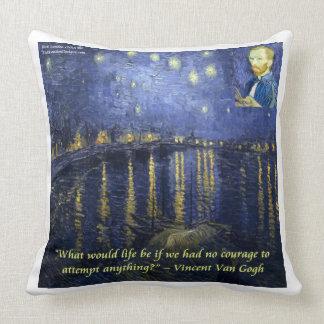 Almofada Noite estrelado de Van Gogh no travesseiro